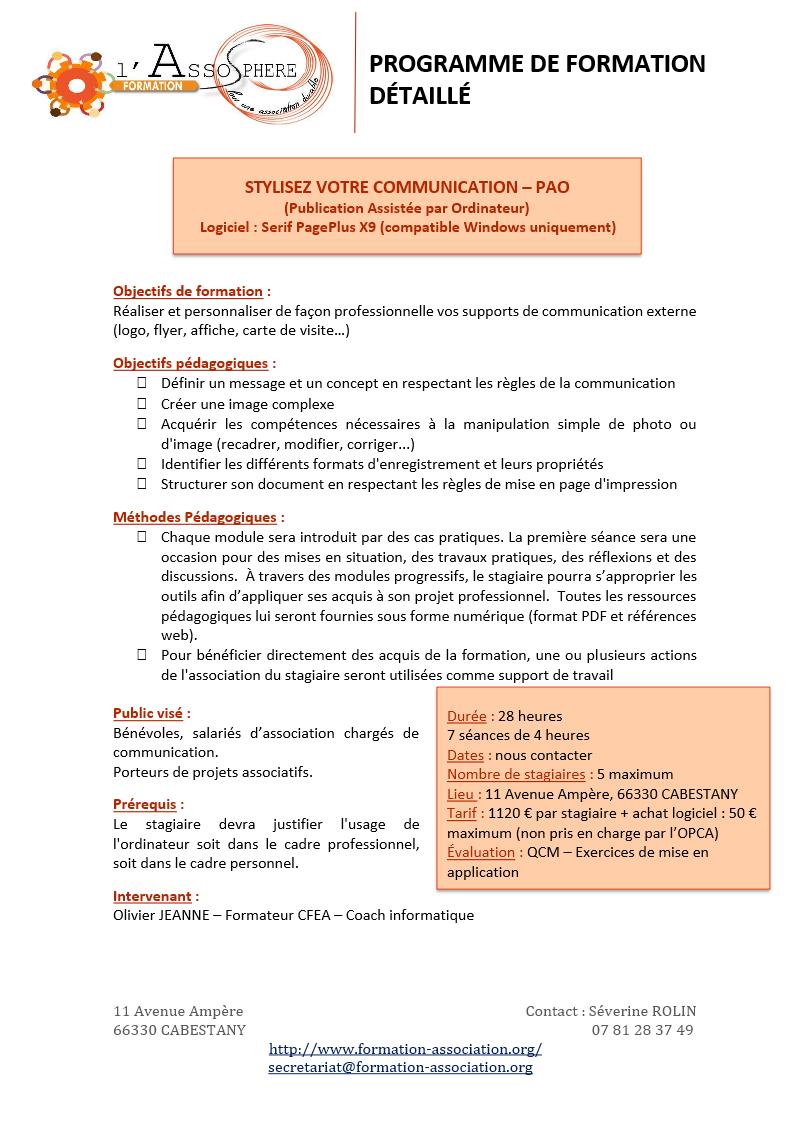 Programme PAO