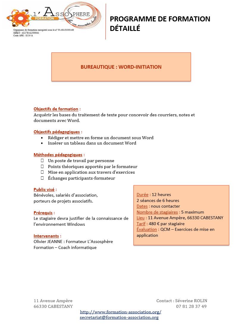 Programme 2017_Bureautique-Word Initiation p1