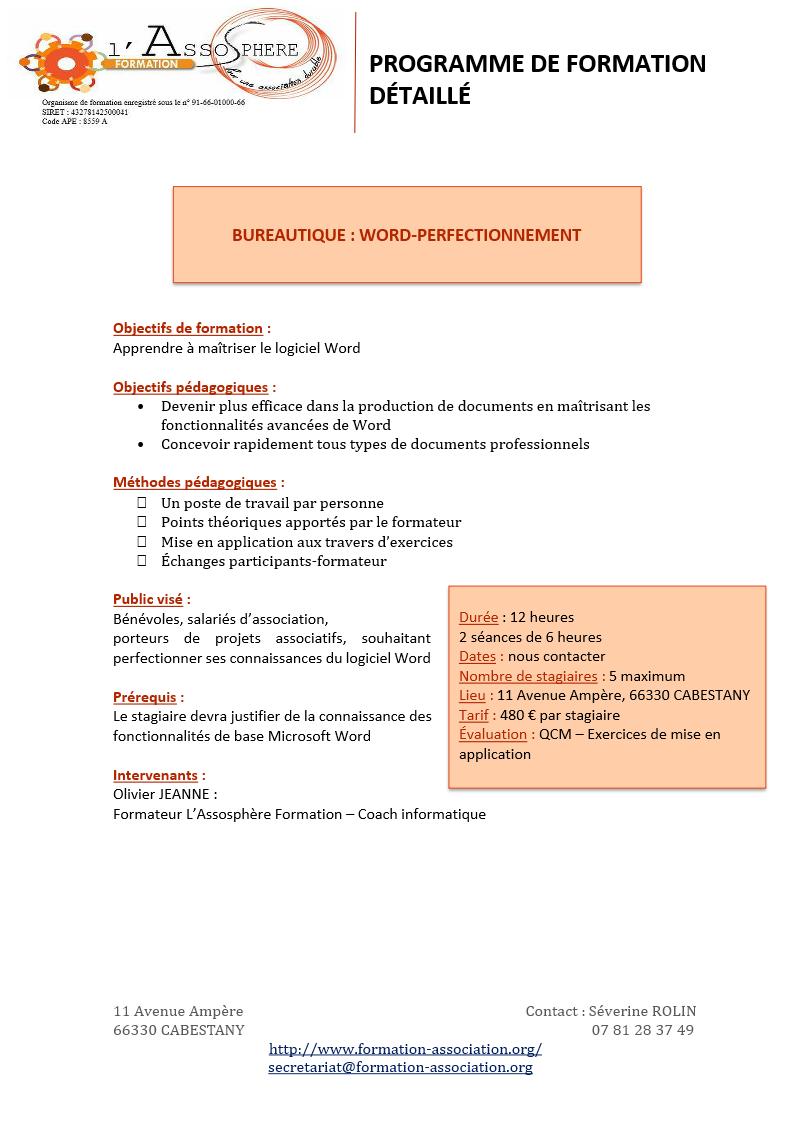 Programme 2017_Bureautique-Word Perfectionnement P1