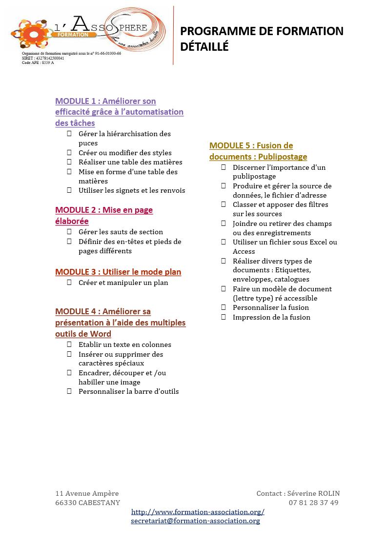 Programme 2017_Bureautique-Word Perfectionnement P2