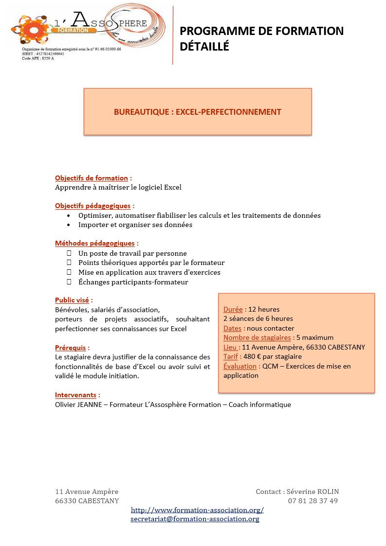 Programme 2017_Bureautique-Excel-Perfectionnement p1